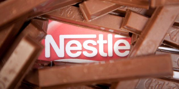 KitKat chocolate wafer bars, one of many Nestle products. (Photo by: Newscast/UIG via Getty