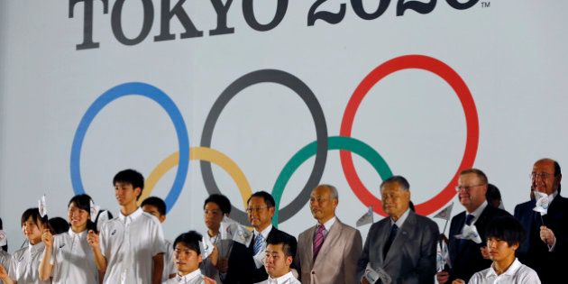 International Olympic Committee Vice President John Coates, second right, and Tokyo 2020 Summer Olympic...