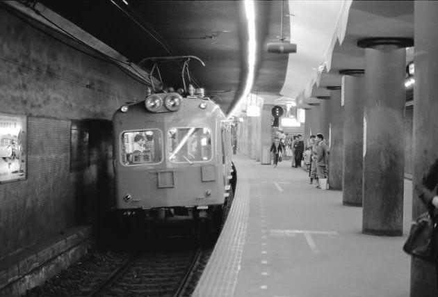 営業最終日の旧初台駅(1978年10月30日)