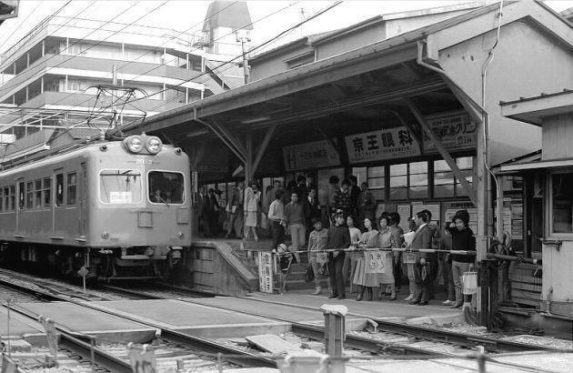 営業最終日の旧幡ヶ谷駅