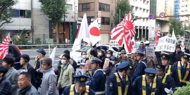 11月19日に行われたデモ行進の様子