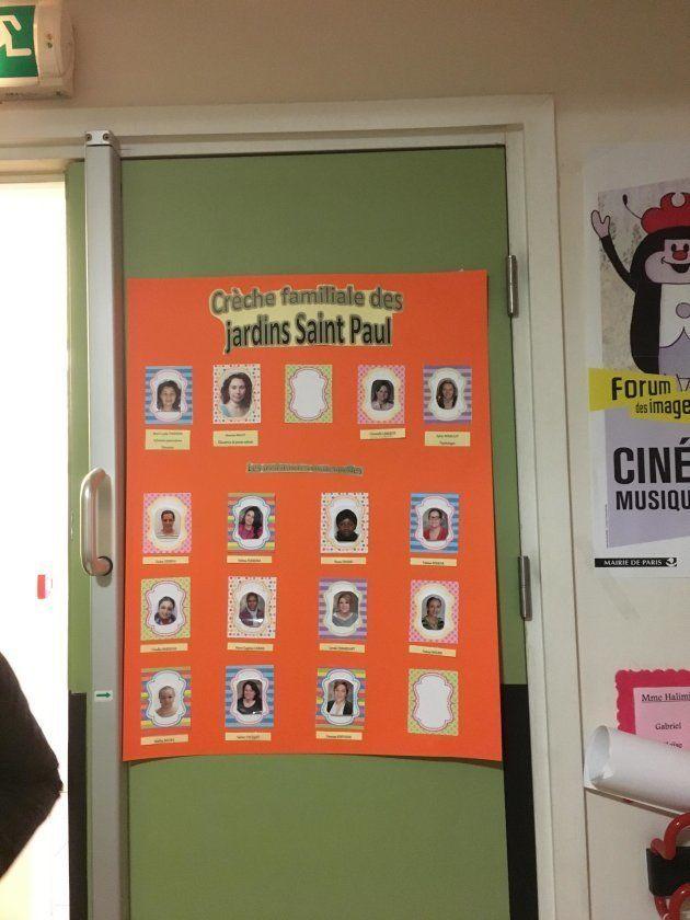 フランスの保育園では、担当保育士の名前と顔写真を入り口近くに掲示する習慣がある。家庭的保育園では所属の保育ママが同様に紹介されている。