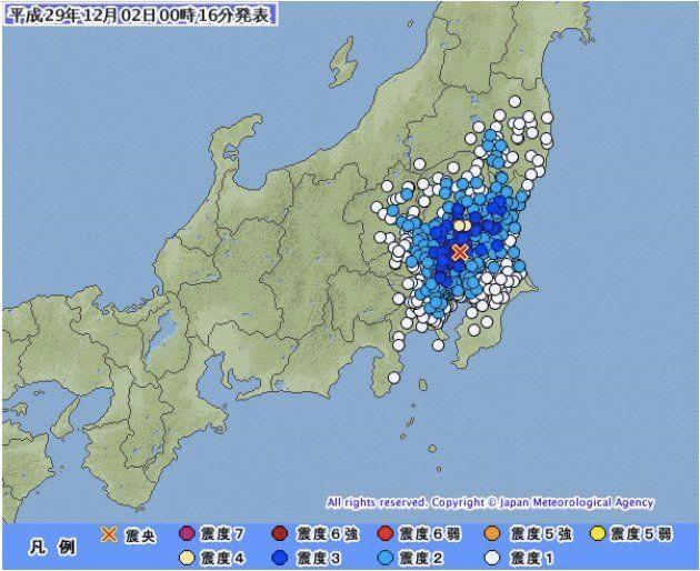 【地震情報】栃木で震度4 関東の広い範囲で揺れ観測