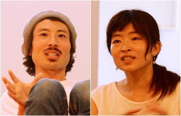 来世ヒデアキさん(左)とヨシヒロ
