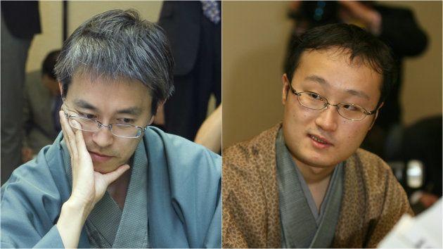 羽生棋聖(左)と渡辺竜王