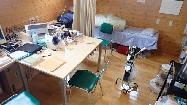 槍ヶ岳診療所の診察室