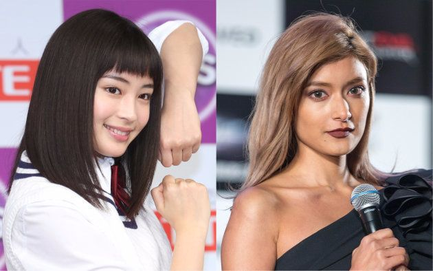 2017年「テレビCM会社数ランキング」で同率1位となった広瀬すず(左)とローラ