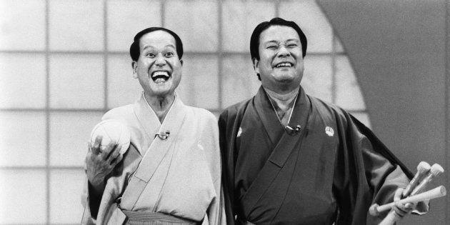 海老一染之介(右)・染太郎さん
