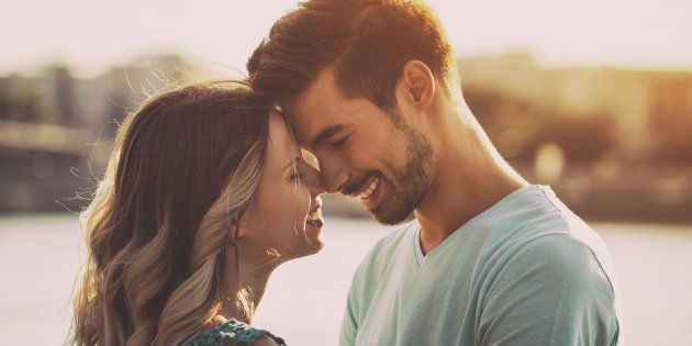 Happy couple enjoy spending time together.Image is intentionally