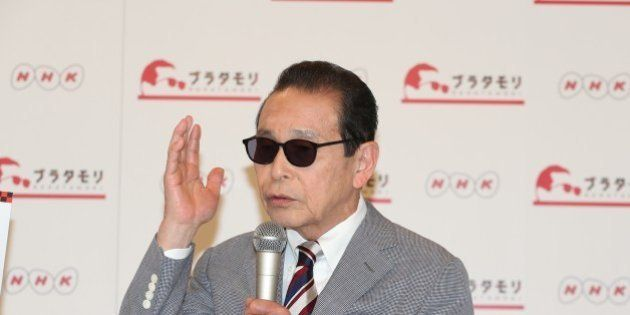 TOKYO, JAPAN - FEBRUARY 19:Comedian Tamori (Kazuyoshi Morita) attend NHK program 'BURATAMORI' press conference...