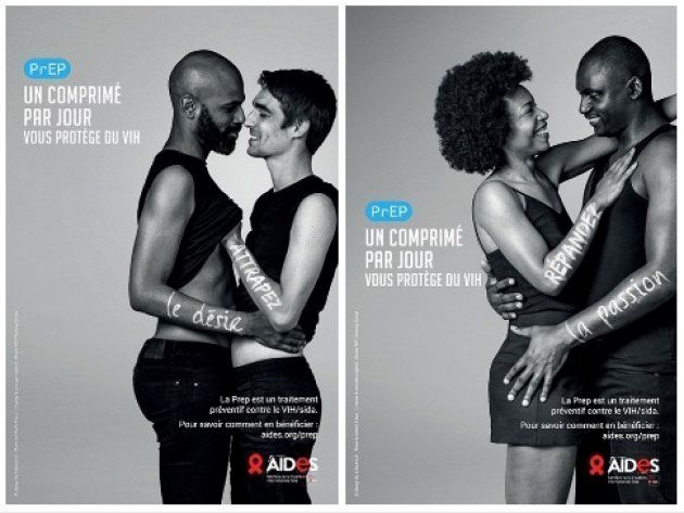 この夏からパリ市内のあちこちに貼られているエイズ感染予防薬PRePのキャンペーン