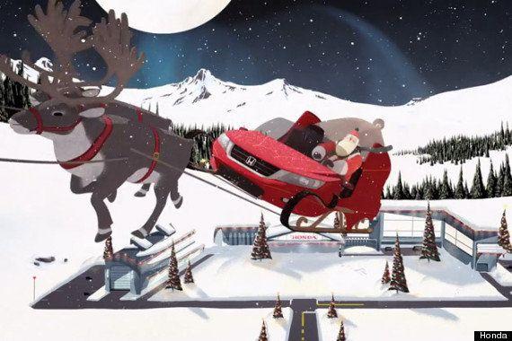 【動画】もしもホンダが、サンタクロースに最新技術を備えたソリを作ったら?
