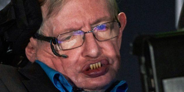 British scientist Stephen Hawking attends a press conference in London on July 20, 2015, where he and...