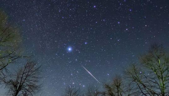 """""""ふたご座流星群""""が美しい。流れ星の煌めき、富士山麓でとらえた"""