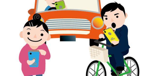 """""""自転車スマホ""""、歩行者にぶつかり死亡させる ながら運転の事故は過去にこれだけあった。"""