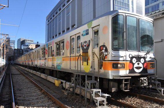 【地下鉄走って90年】銀座線01系くまモンラッピング電車