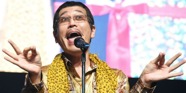 TOKYO, JAPAN - JANUARY 13: Japanese comedian/singer-songwriter PIKOTARO (aka Daimaou Kosaka) performs...