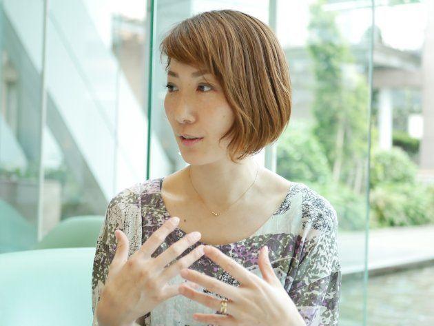 インタビューに答えてくれた加藤さくらさん 東京都内にて
