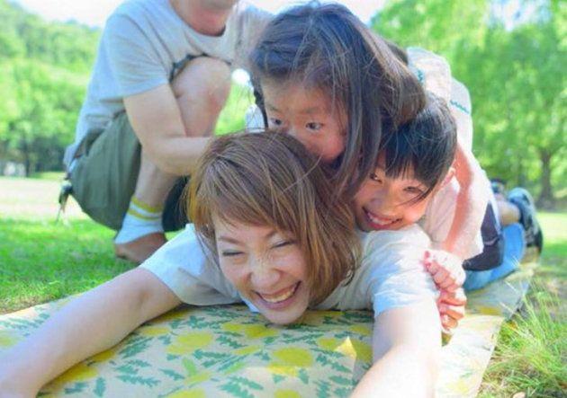 加藤さくらさんと娘さんたち