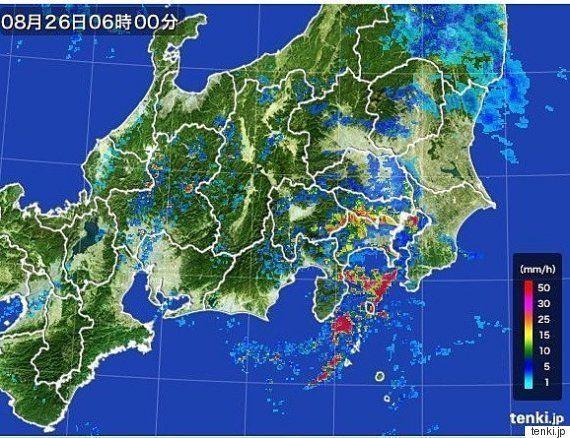8月26日、関東は激しい雨に注意 都心で最高気温23度の予想