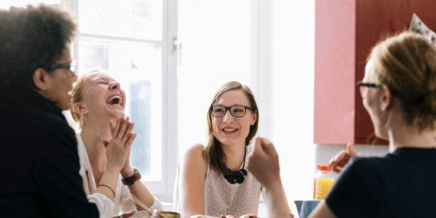 Women enjoying a moment during Business Breakfast