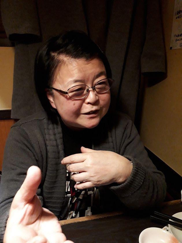 渡辺照子さん=12月15日、東京都文京区で