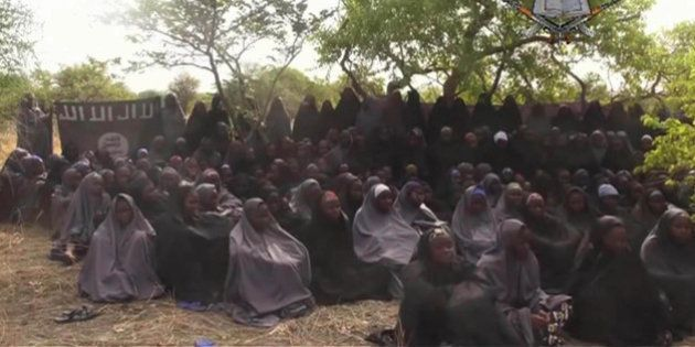 FILE - This Monday May 12, 2014 file image taken from video by Nigeria's Boko Haram terrorist network,...