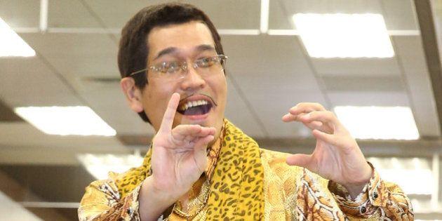 TAIPEI, CHINA - NOVEMBER 11: Piko Taro, a Japanese comedian and singer-songwriter, arrives at airport...