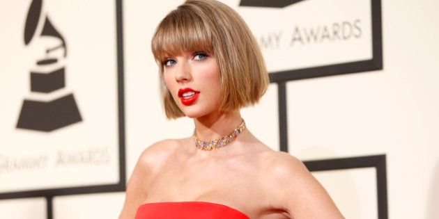 Singer Taylor Swift arrives at the 58th Grammy Awards in Los Angeles, California February 15, 2016. REUTERS/Danny