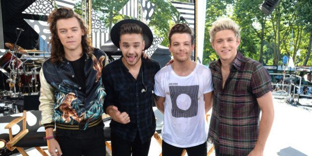NEW YORK, NY - AUGUST 04: Harry Styles, Liam Payne, Louis Tomlinson and Niall Horan of One Direction...