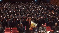 """ダイアモンド☆ユカイ 男子高校生に""""男の不妊治療""""を講演「前進あるのみだ!」"""