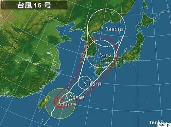 石垣島で記録的な暴風