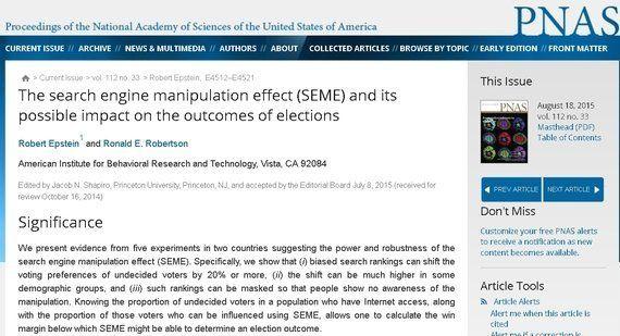 グーグルは米大統領選で20%の票を左右できるのか