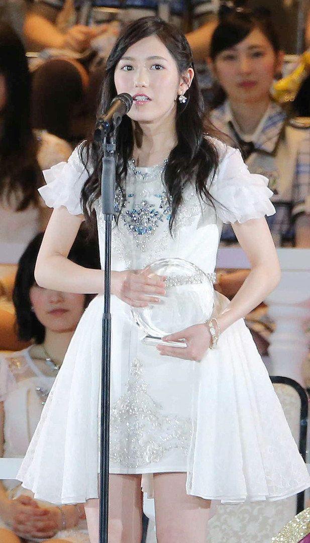 第7回AKB48選抜総選挙で3位の渡辺麻友=6日、ヤフオクドーム