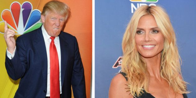 (FILE PHOTO) In this composite image a comparison has been made between Donald Trump (L) and Heidi Klum...