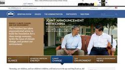 トランプ大統領就任後、ホワイトハウス公式サイトから「気候変動」への言及を一切削除