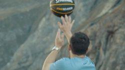 巨大ダムで181メートル上から神業バスケシュート「人類のためだ」(動画)