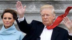 トランプ氏、大統領就任式でネクタイを両面テープで留めていた 異様な長さも話題に