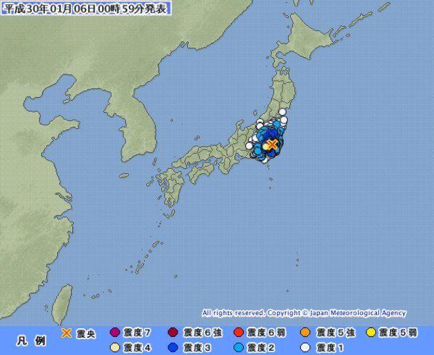 【地震情報】東京23区などで震度4 埼玉・千葉などでも震度3