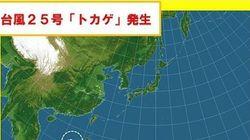 台風25号が発生 名前は「トカゲ」