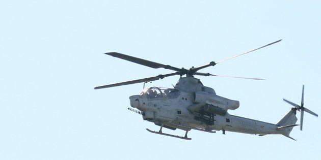 普天間飛行場を飛び立つ米軍ヘリ(イメージ写真)