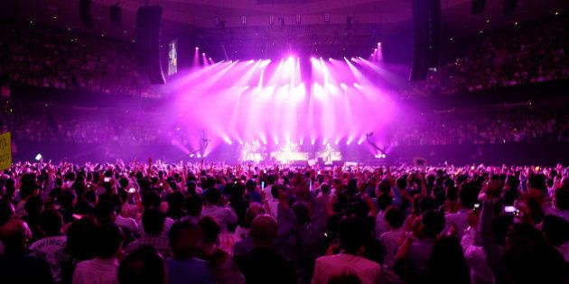 TOKYO, JAPAN - APRIL 28: Paul McCartney performs live at the Budokan on April 28, 2015 in Tokyo, Japan....