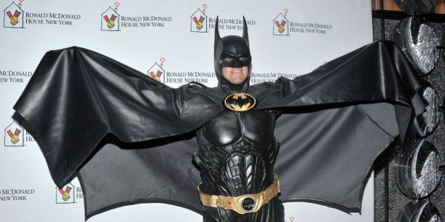 NEW YORK, NY - OCTOBER 25: Lenny Robinson as Batman attends the Masquerade Ball Benefiting Ronald McDonald...