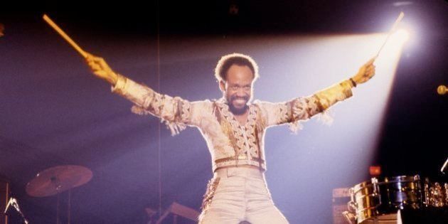 NEW YORK: Maurice White from Earth Wind And Fire performs live on stage in New York in 1979 (Photo by...