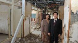 福島県浪江町の請戸小、「激励の黒板」があった最後の姿