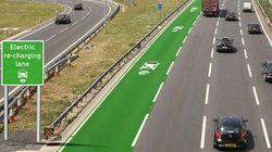 イギリスにEV車用の非接触充電レーン 走行しながらバッテリー回復できる