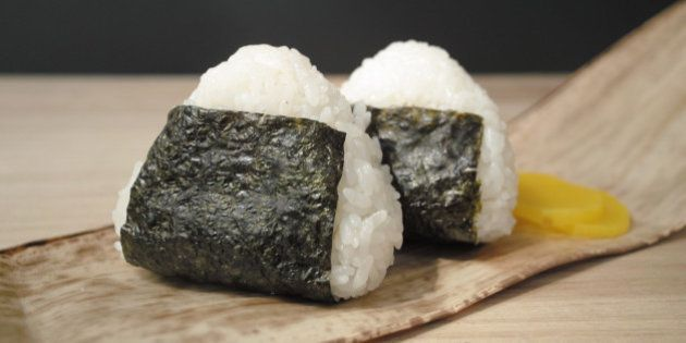 This is a standard rice ball.It is a Japanese traditional
