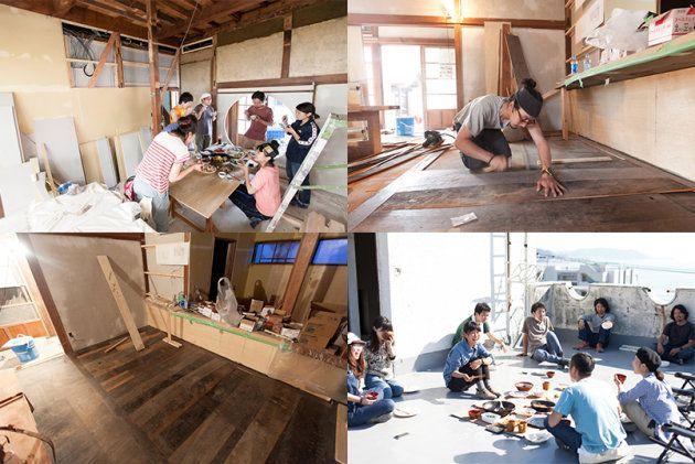 妻の華南子さんとともに空間デザインユニット「medicala(メヂカラ)」として活動してきた東野さん。依頼を受けた土地に住み込み、依頼主やその友人たちと共に一緒に作るというスタイルで日本各地をまわってきた