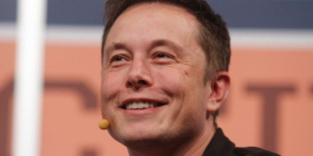 FILE - In this Saturday, March 9, 2013, file photo, SpaceX CEO Elon Musk gives the opening keynote at...