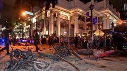 バンコク中心部の繁華街で大きな爆発 オートバイに積まれた爆弾が爆発か